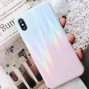 Accessories - NEW iPhone X/XS Blue & Pink Ombre Laser Case